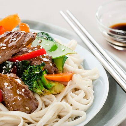 Beef and Bok Choi Noodles